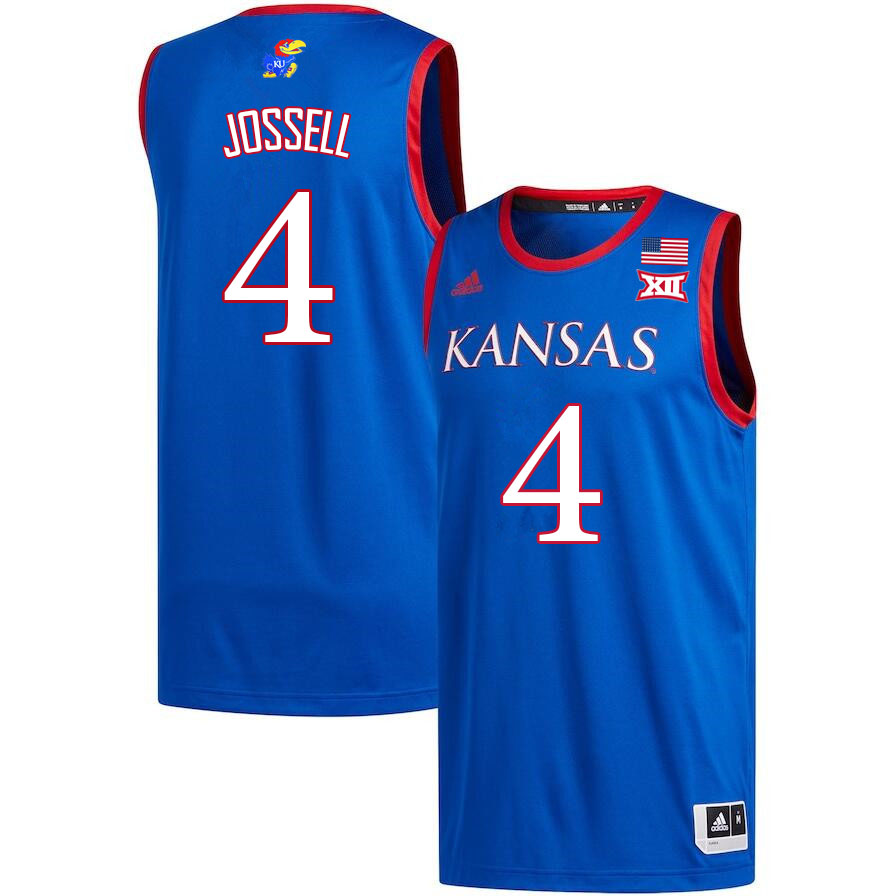 Men #4 Latrell Jossell Kansas Jayhawks College Basketball Jerseys Sale-Royal