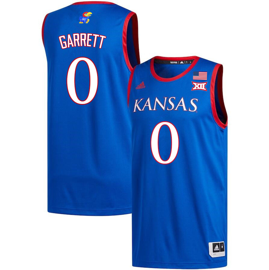 Men #0 Marcus Garrett Kansas Jayhawks College Basketball Jerseys Sale-Royal