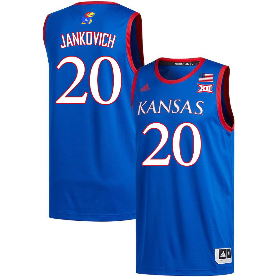 Men #20 Michael Jankovich Kansas Jayhawks College Basketball Jerseys Sale-Royal