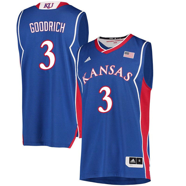 Men #3 Angel Goodrich Kansas Jayhawks 2018 Hardwood Classic College Basketball Jerseys Sale-Royal
