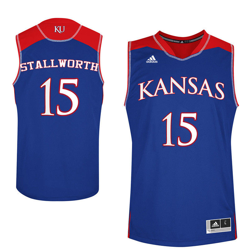 Men Kansas Jayhawks #15 Bud Stallworth College Basketball Jerseys-Royals