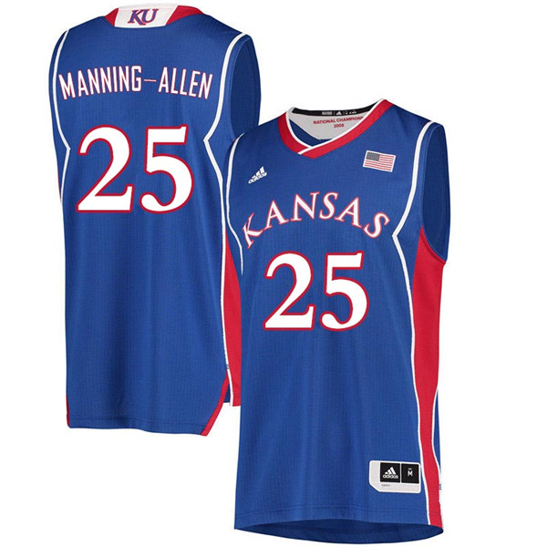 Men #25 Caelynn Manning-Allen Kansas Jayhawks 2018 Hardwood Classic College Basketball Jerseys Sale-