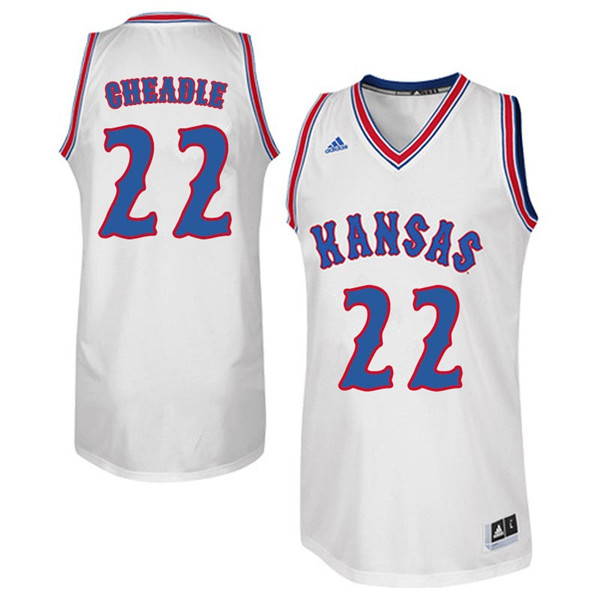 Men #22 Chayla Cheadle Kansas Jayhawks Retro Throwback College Basketball Jerseys Sale-White