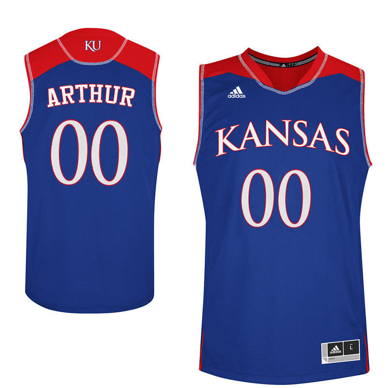 Men Kansas Jayhawks #00 Darrell Arthur College Basketball Jerseys-Royals