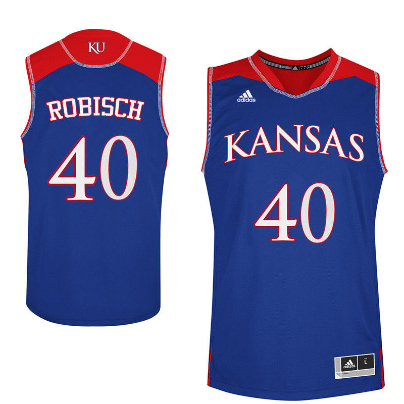 Men Kansas Jayhawks #40 Dave Robisch College Basketball Jerseys-Royals
