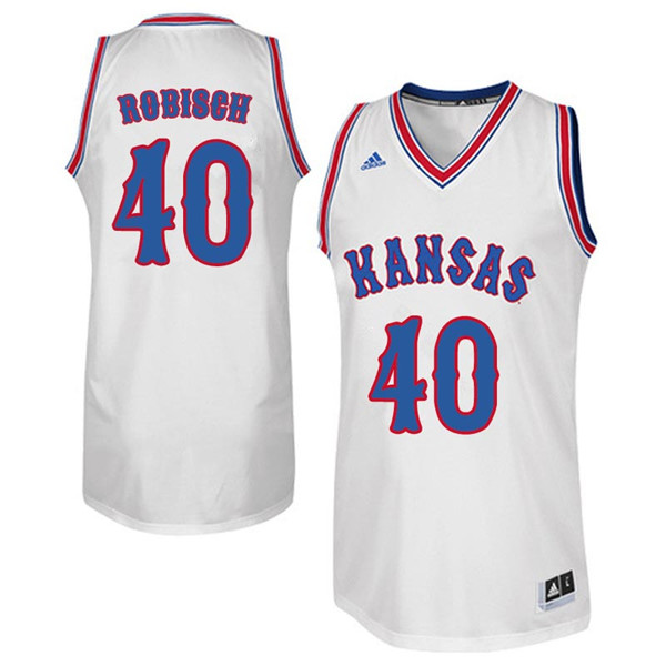 Men #40 Dave Robisch Kansas Jayhawks Retro Throwback College Basketball Jerseys Sale-White