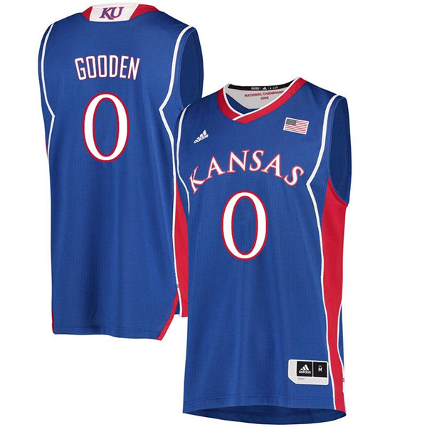 Men #0 Drew Gooden Kansas Jayhawks 2018 Hardwood Classic College Basketball Jerseys Sale-Royal