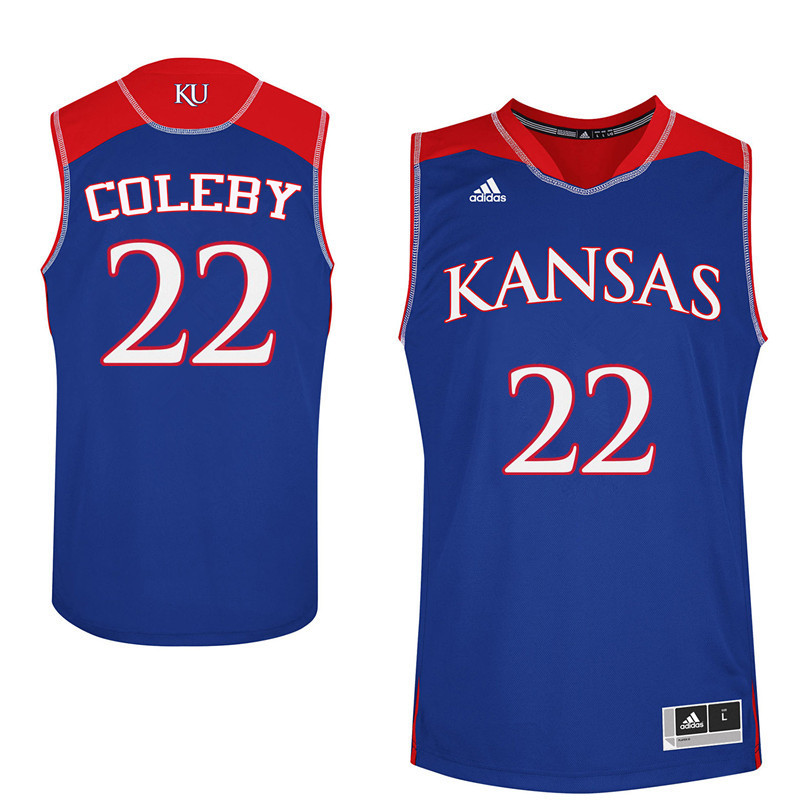 Men Kansas Jayhawks #22 Dwight Coleby College Basketball Jerseys Sale-Blue
