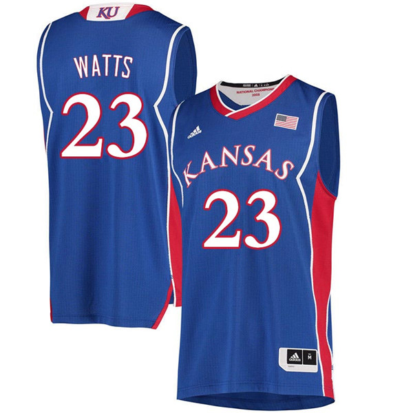 Men #23 Eboni Watts Kansas Jayhawks 2018 Hardwood Classic College Basketball Jerseys Sale-Royal