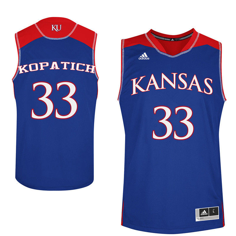 Men Kansas Jayhawks #33 Kylee Kopatich College Basketball Jerseys-Royals