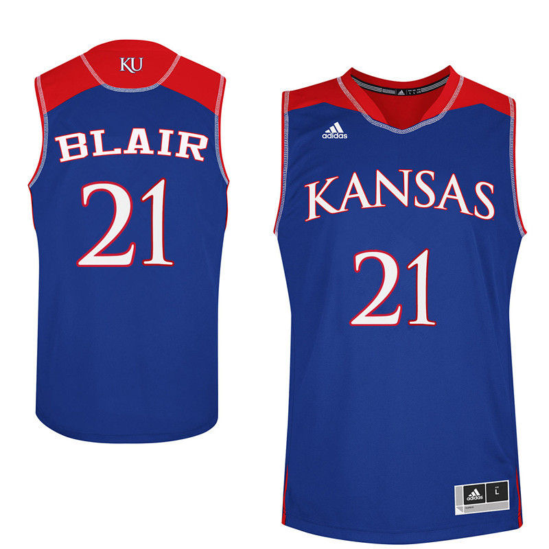 Men Kansas Jayhawks #21 Lisa Blair College Basketball Jerseys-Royals