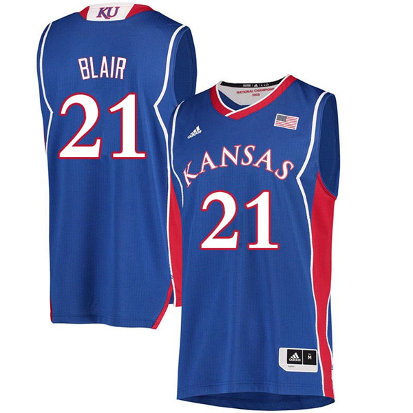 Men #21 Lisa Blair Kansas Jayhawks 2018 Hardwood Classic College Basketball Jerseys Sale-Royal