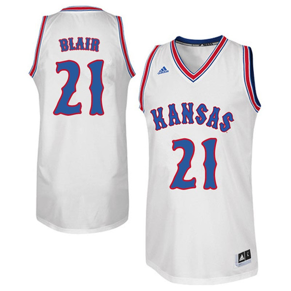 Men #21 Lisa Blair Kansas Jayhawks Retro Throwback College Basketball Jerseys Sale-White