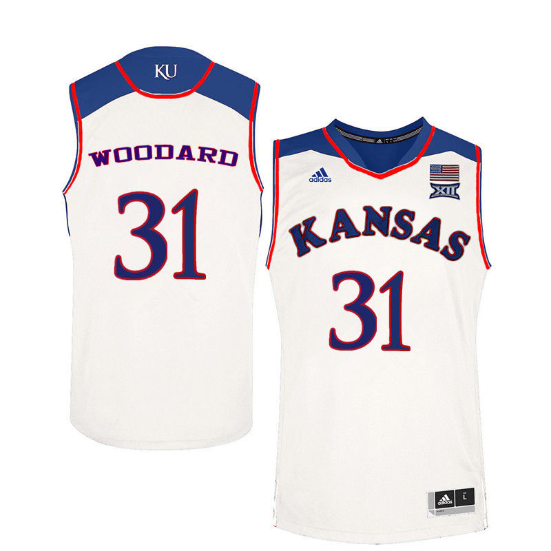 Men Kansas Jayhawks #31 Lynette Woodard College Basketball Jerseys-White