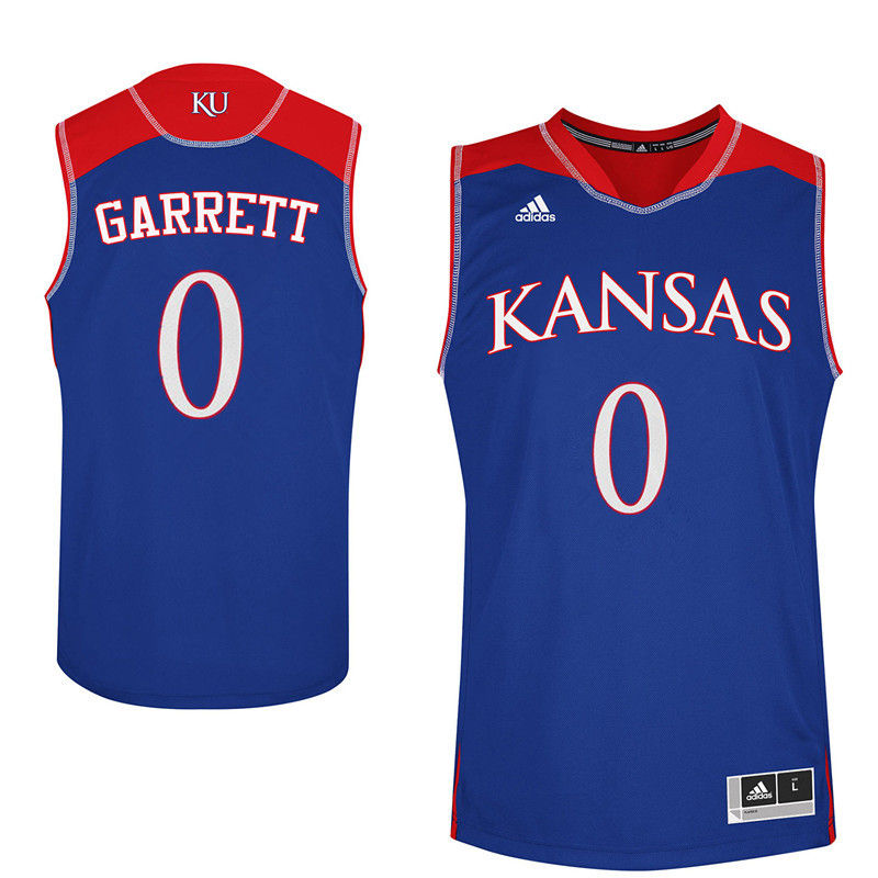 Men Kansas Jayhawks #0 Marcus Garrett College Basketball Jerseys-Royals
