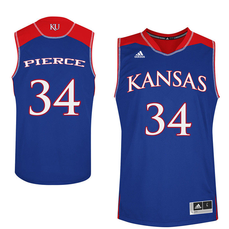 Men Kansas Jayhawks #34 Paul Pierce College Basketball Jerseys-Royals