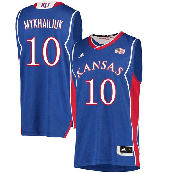 Men #10 Sviatoslav Mykhailiuk Kansas Jayhawks 2018 Hardwood Classic College Basketball Jerseys Sale-