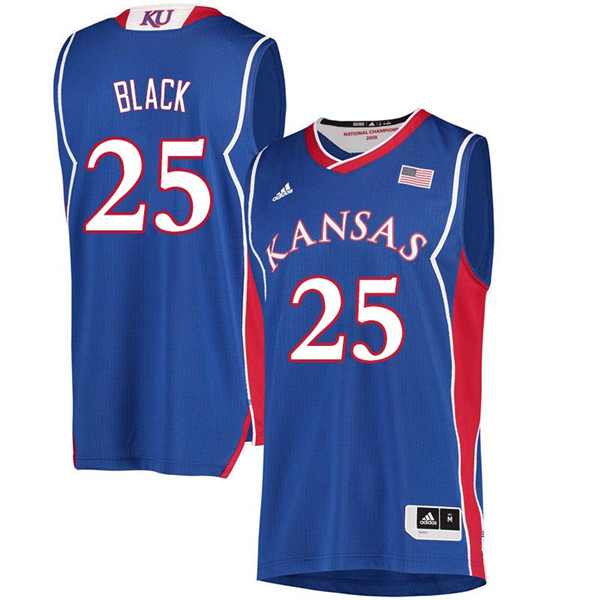 Men #25 Tarik Black Kansas Jayhawks 2018 Hardwood Classic College Basketball Jerseys Sale-Royal