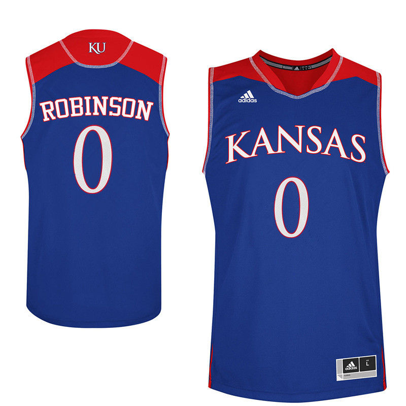 Men Kansas Jayhawks #0 Thomas Robinson College Basketball Jerseys-Royals