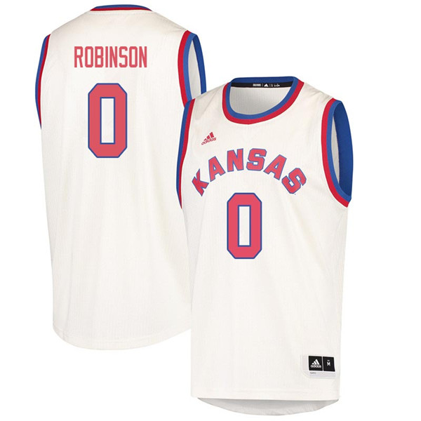 Men #0 Thomas Robinson Kansas Jayhawks 2018 Hardwood Classic College Basketball Jerseys Sale-Cream