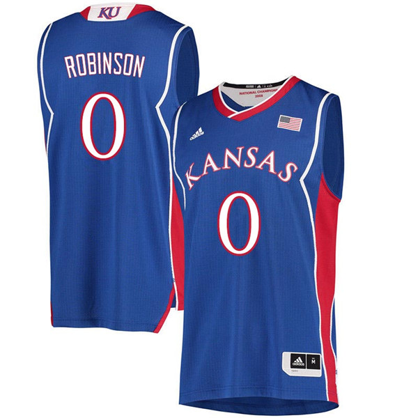 Men #0 Thomas Robinson Kansas Jayhawks 2018 Hardwood Classic College Basketball Jerseys Sale-Royal