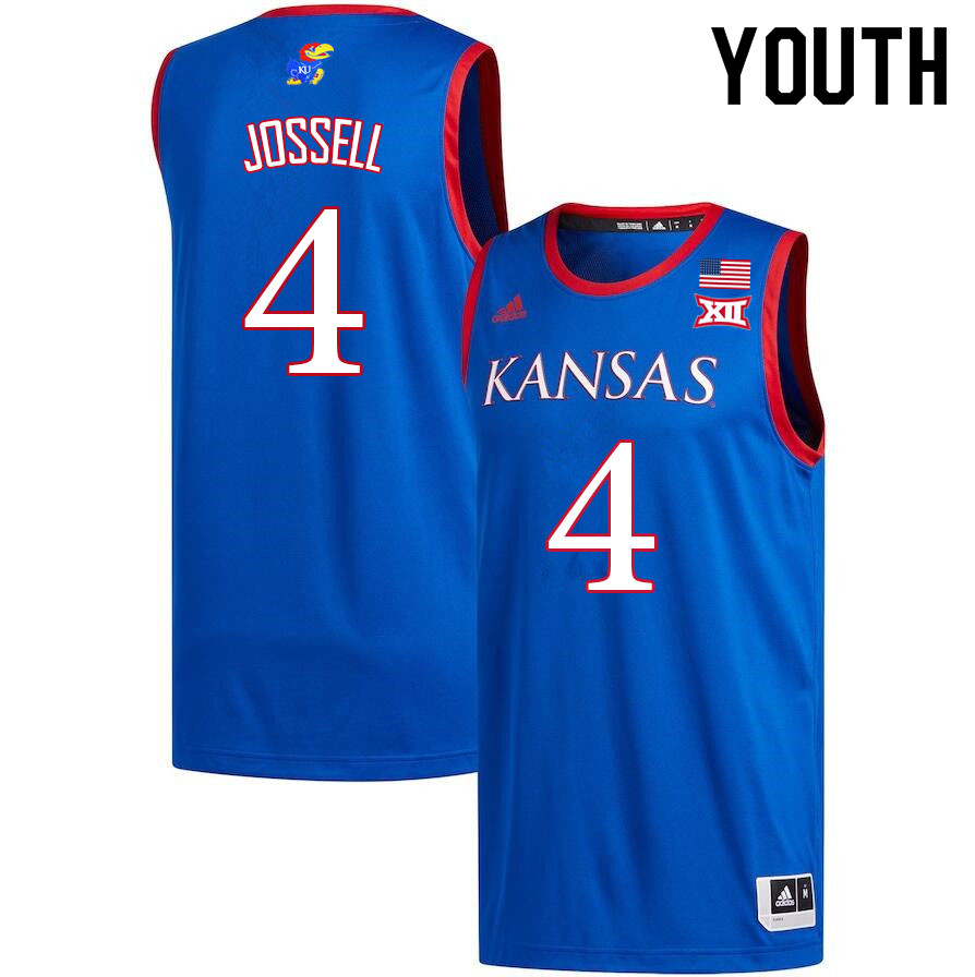 Youth #4 Latrell Jossell Kansas Jayhawks College Basketball Jerseys Sale-Royal
