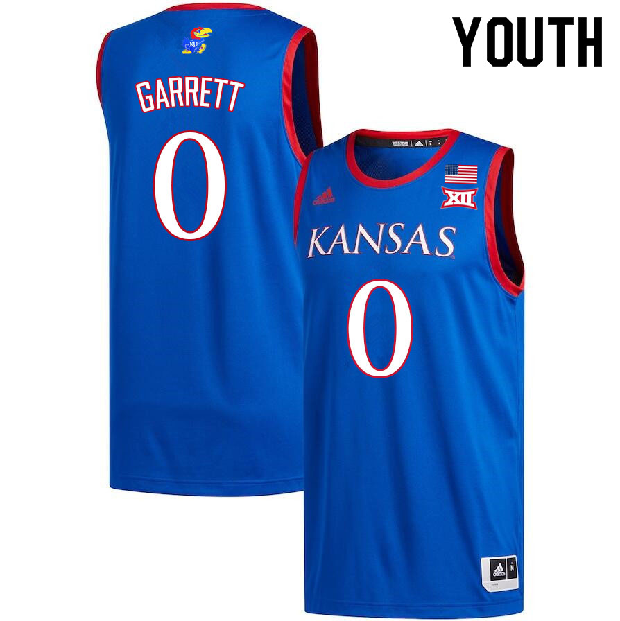 Youth #0 Marcus Garrett Kansas Jayhawks College Basketball Jerseys Sale-Royal