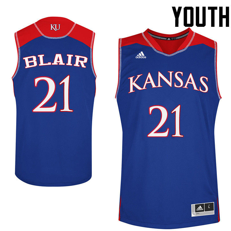 Youth Kansas Jayhawks #21 Lisa Blair College Basketball Jerseys-Royals